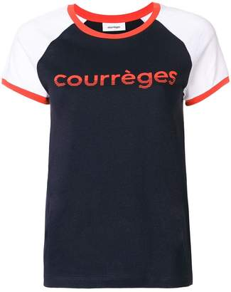 Courreges logo colour-block T-shirt