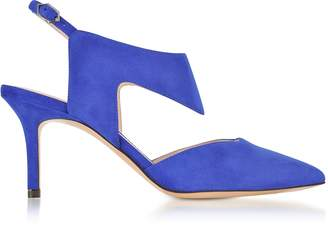 Nicholas Kirkwood 70mm Royal Blue Suede Leda Pump
