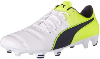 Puma Men's EVOpower 1.3 LTH FG Soccer Cleats, White/Peacoat