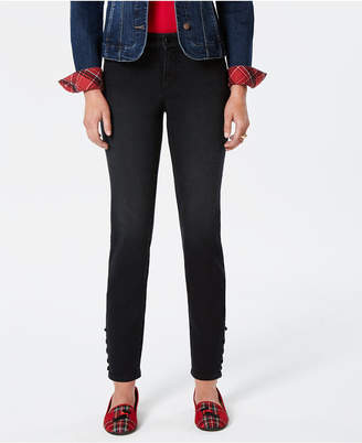Charter Club Bristol Skinny Lace-Up Ankle Jeans