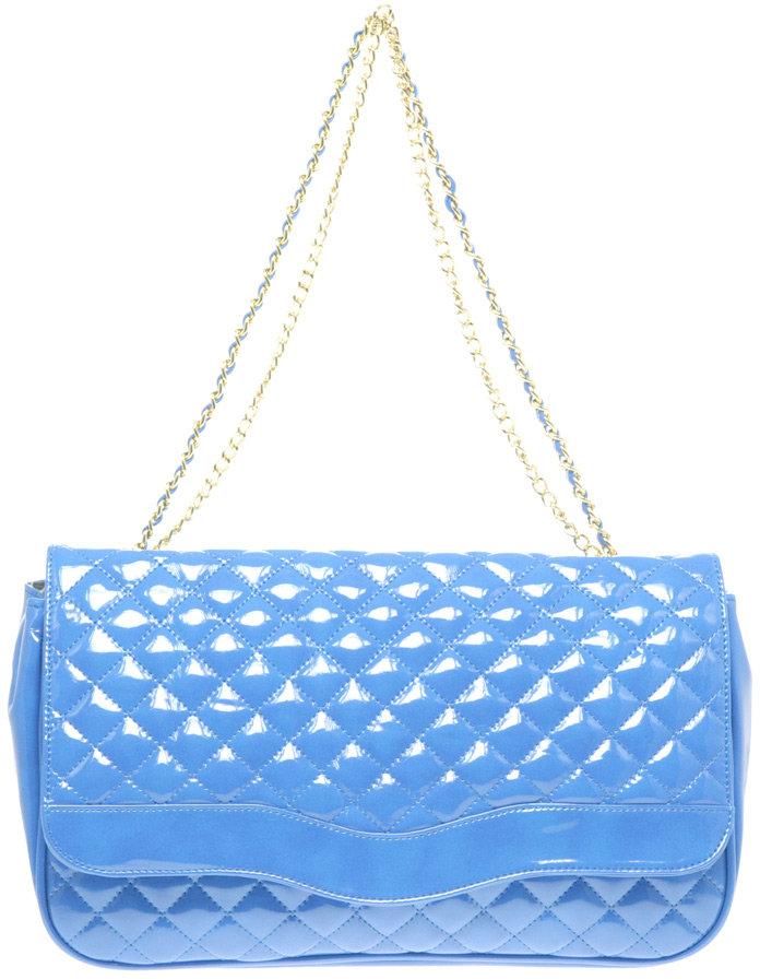 Marc B Chelsea Patent Double Chain Bag