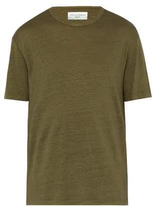Officine Generale Cotton Jersey T Shirt - Mens - Dark Green