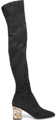 Burberry - Suede Over-the-knee Boots - Black $1,650 thestylecure.com