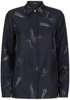 Theory Silk Print Shirt