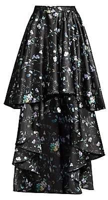 Flor et. al Women's Amanda Floral Tiered High-Low Skirt - Size 0
