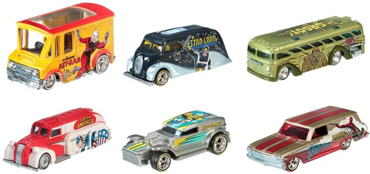 Hot Wheels Pop Culture Collection Marvel Die-Cast Vehicle 6-Pack
