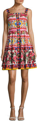 Dolce & Gabbana Women's Printed Pleated Dress