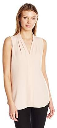 Calvin Klein Women's Sleeveless Inverted Pleat Blouse