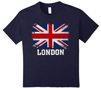 London England British Flag Vintage Union Jack T-Shirt