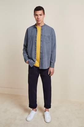 French Connenction Monochrome Grandad Collar Denim Shirt