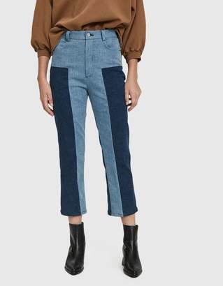 Rachel Comey Bismark Two-Tone Denim Trouser
