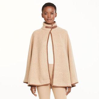 Ralph Lauren Faux Leather–Trim Swing Cape $165 thestylecure.com