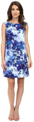 Adrianna Papell Printed Faille Simple Shift Dress Women's Dress