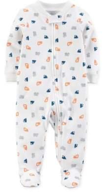 Truck Zip-Up Footie Pajama