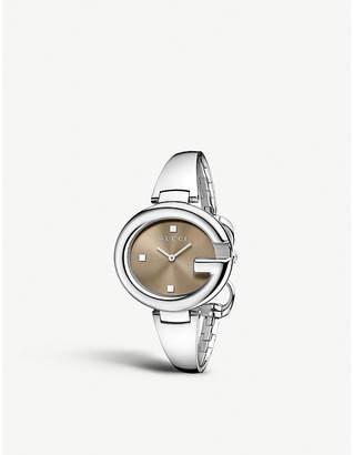 Gucci YA134302 Guccissima stainless steel watch