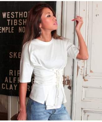 ANAP (アナップ) - アナップ [Latina]ウエストレースアップビッグTシャツ