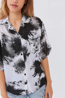Motel Tie-Dye Button-Down Shirt
