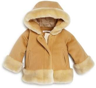 Chloé Girls' Faux Fur Trim Coat - Baby
