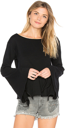 BLANKNYC Bell Sleeve Top in Black $48 thestylecure.com