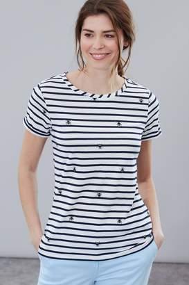 Joules Womens Cream Nessa Print Lightweight Jersey T-Shirt - Cream