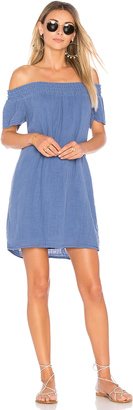 Michael Stars Smocked Off The Shoulder Dress $148 thestylecure.com