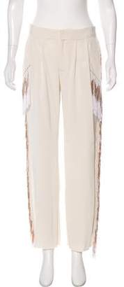 Baja East Embellished Mid-Rise Pants w/ Tags