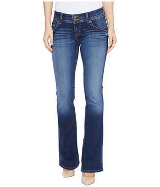 Hudson Jeans Petite Signature Bootcut Flap Pocket Jeans in Patrol Unit 2