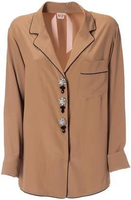 N°21 N.21 Embellished Button Shirt