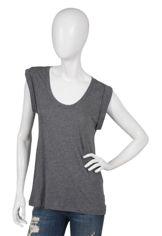 Muscle Tee in White, Black, and Heather Grey - by LnA