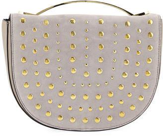 Neiman Marcus Crescent Studded Crossbody Bag