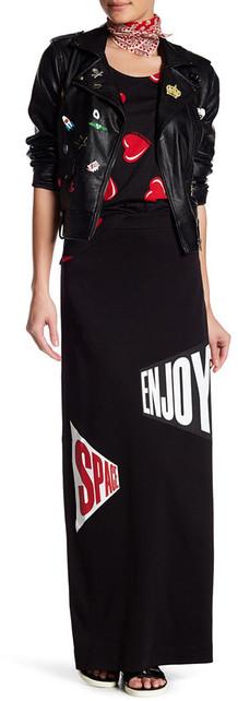 Love MoschinoLOVE Moschino Graphic Print Long Skirt
