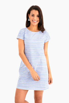 Americana HIHO Chalk Stripe Tee Shirt Dress