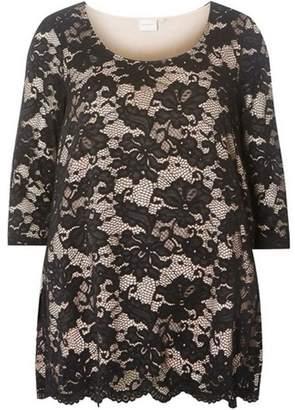 Dorothy Perkins Womens **Juna Rose Curve Black Lace Top