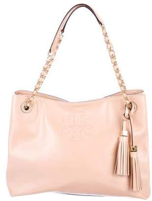 Tory Burch Patent Leather Chain-Link Tote