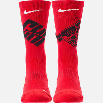 Nike Unisex Chicago Bulls NBA Team Elite Crew Basketball Socks