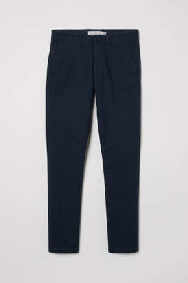 H&M Skinny Fit Cotton Chinos - Blue