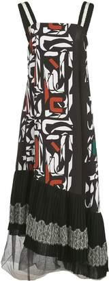 ADEAM asymmetric printed midi dress