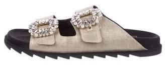 Roger Vivier 2017 Crystal Buckle Sandals