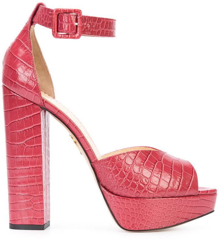 Charlotte OlympiaCharlotte Olympia platform block heel sandals
