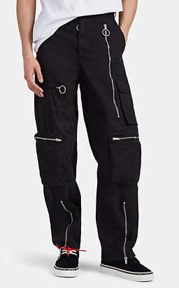 Off-White Men's Cotton-Blend Twill Cargo Pants - Black
