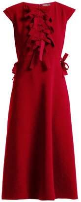Bottega Veneta Bow Trimmed Shift Dress - Womens - Red