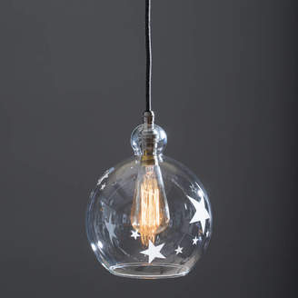 c57bccd57a5 clear Glow Lighting Glass Globe Betty Pendant Light Etched With Stars