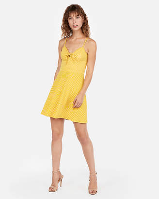 Express Knot Tie Fit And Flare Mini Dress