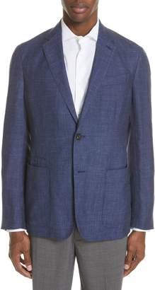 Ermenegildo Zegna Informale Trim Fit Solid Cashmere Blend Sport Coat