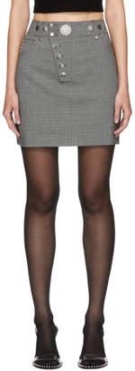 Alexander Wang Grey Houndstooth Multi-Snap Miniskirt