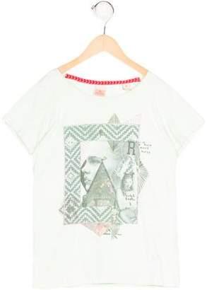 Scotch R'Belle Girls' Abstract Print Short Sleeve Top