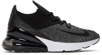 Nike Black and White Air Max 270 Flyknit Sneakers