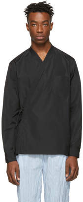 3.1 Phillip Lim Black Kimono Style Shirt
