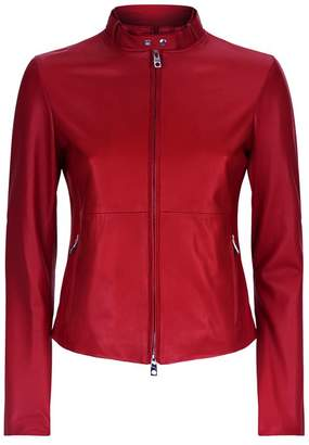 Emporio Armani Leather Bomber Jacket
