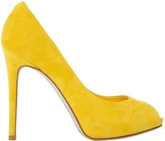9c3f51aa5d5 Rene Caovilla Yellow Suede Heels